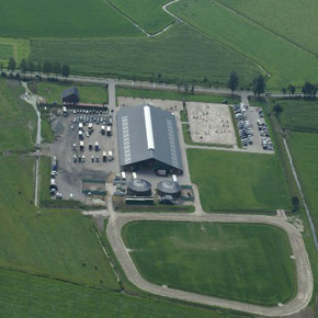 air picture of the horse stable